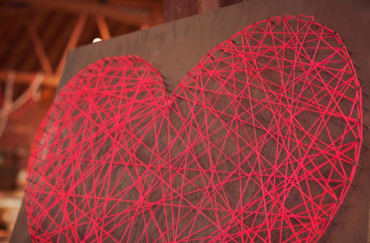 string art coeur