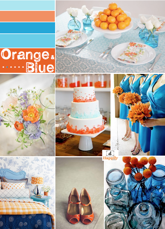 couleur de mariage orange et bleu turquoise. Black Bedroom Furniture Sets. Home Design Ideas