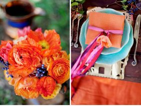 orange-turquoise-vintage-wedding13