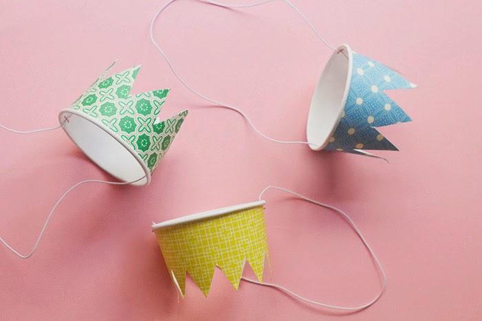 DIY Paper Cup Crowns